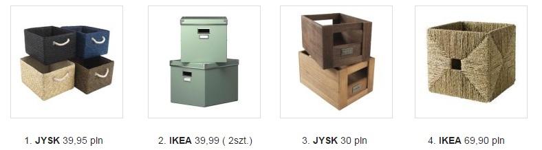 pudełka jako idealne organizery