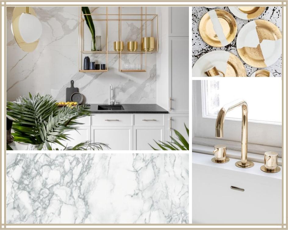 Złoto I Biel Idealne Połączenie Dla Kuchni Plan For Design